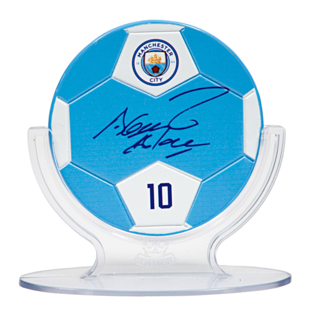 Sergio Aguero - Manchester City F.C. Signables Collectible in Stand Front