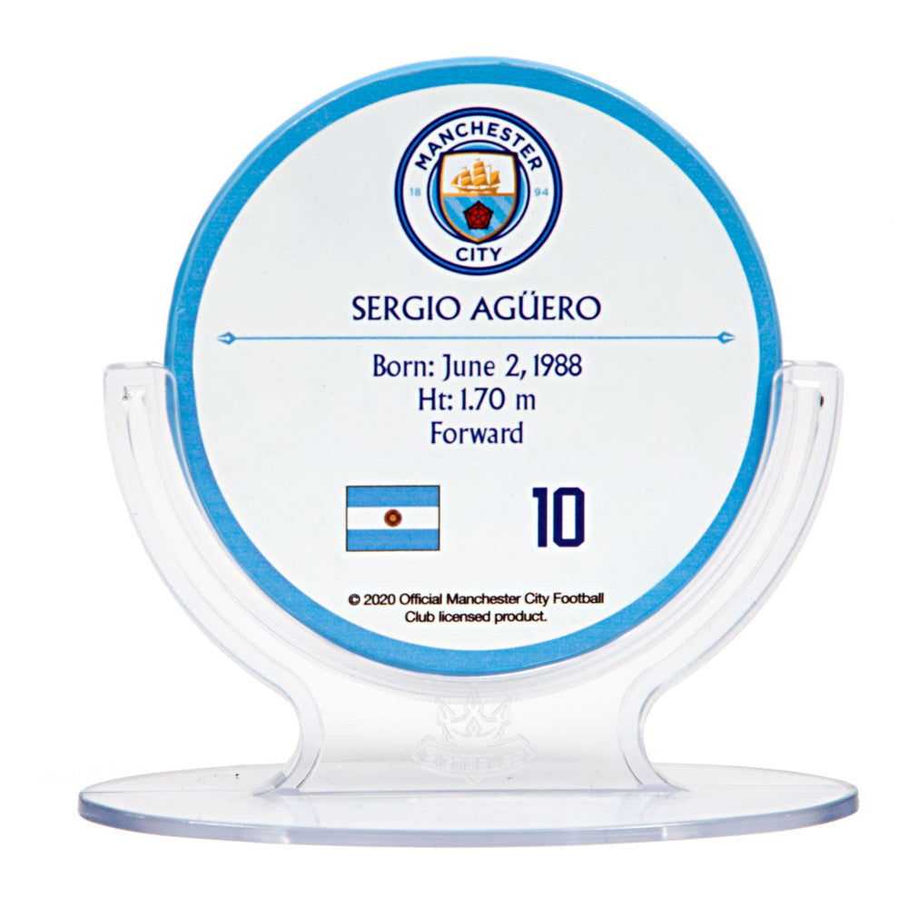 Sergio Aguero - Manchester City F.C. Signables Collectible in Stand Back