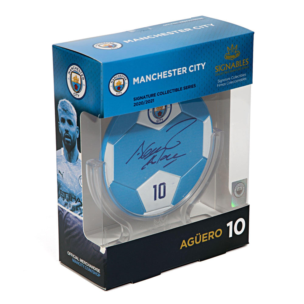 Sergio Aguero - Manchester City F.C. Signables Collectible Box Side