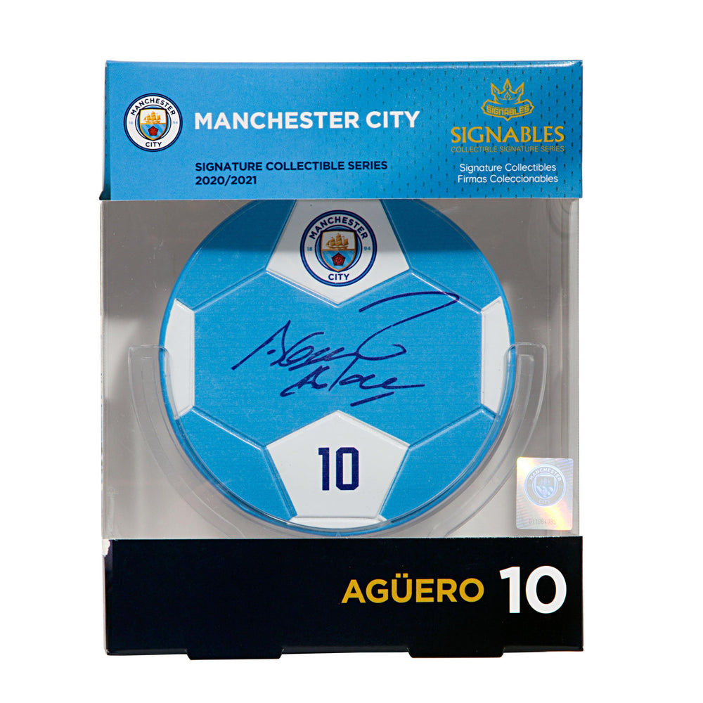 Sergio Aguero - Manchester City F.C. Signables Collectible Box Front