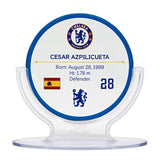Cesar Azpilicueta - Chelsea F.C. Signables Collectible in Stand Back