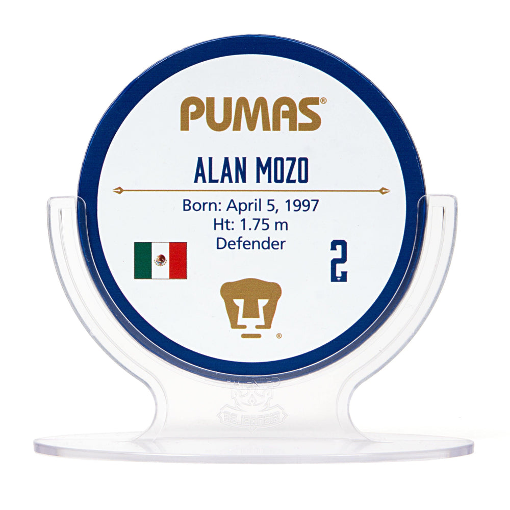 Alan Mozo - PUMAS UNAM Signables Collectible in Stand Back