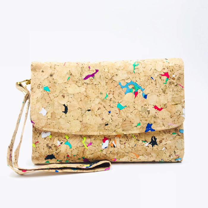 Colourful Vivid Emily Cork Wallet Purse Cruelty Free Ethical Vegan Recycled
