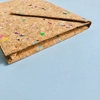 The side of By The Sea Collection, Alice, colourful vegan cork leather document case