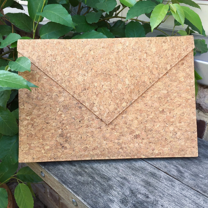 Plain Classic Alice Cork Laptop Case Natural Cruelty Free Ethical Vegan Recycled