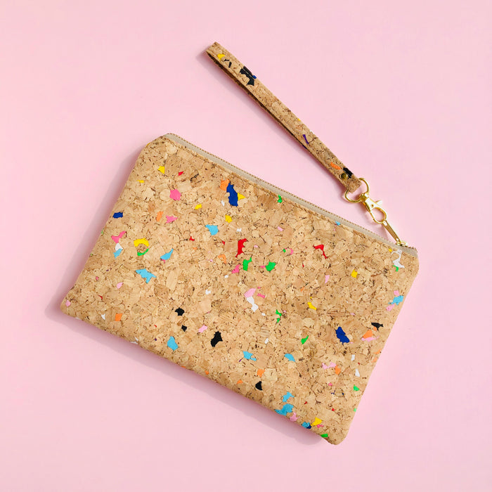 By The Sea Collection, Annie, colourful vegan cork leather pouch