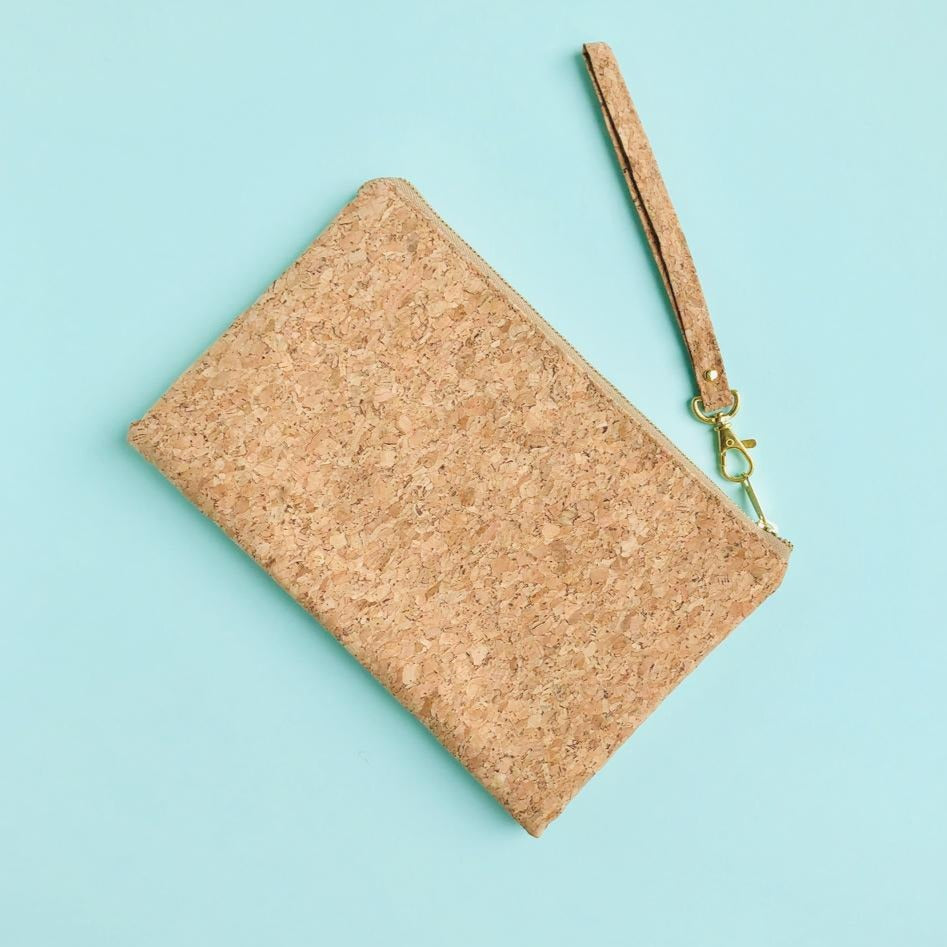 By The Sea Collection, Annie, vegan cork leather pouch