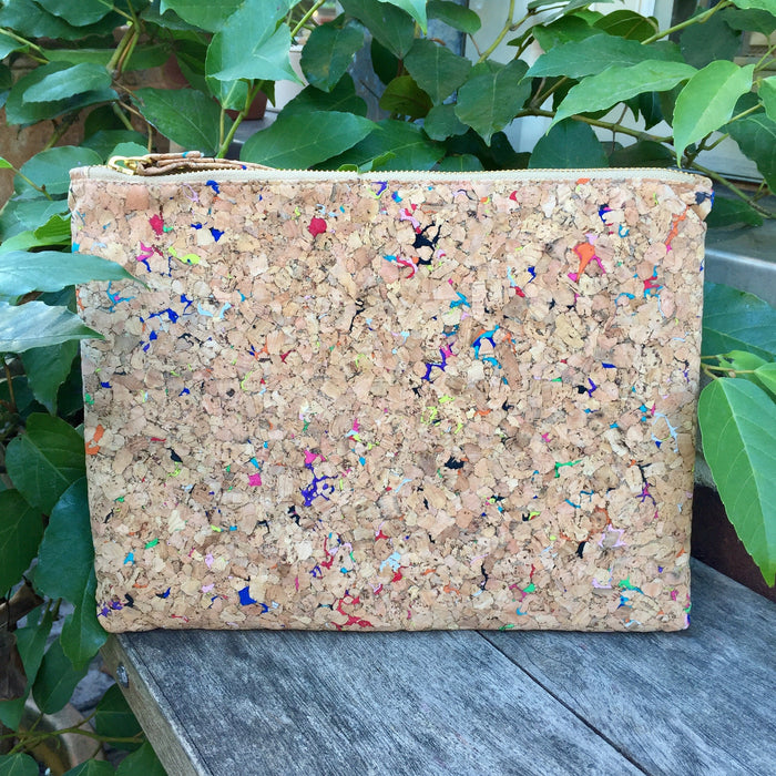 Annie Large Cork Pouch in Vivid