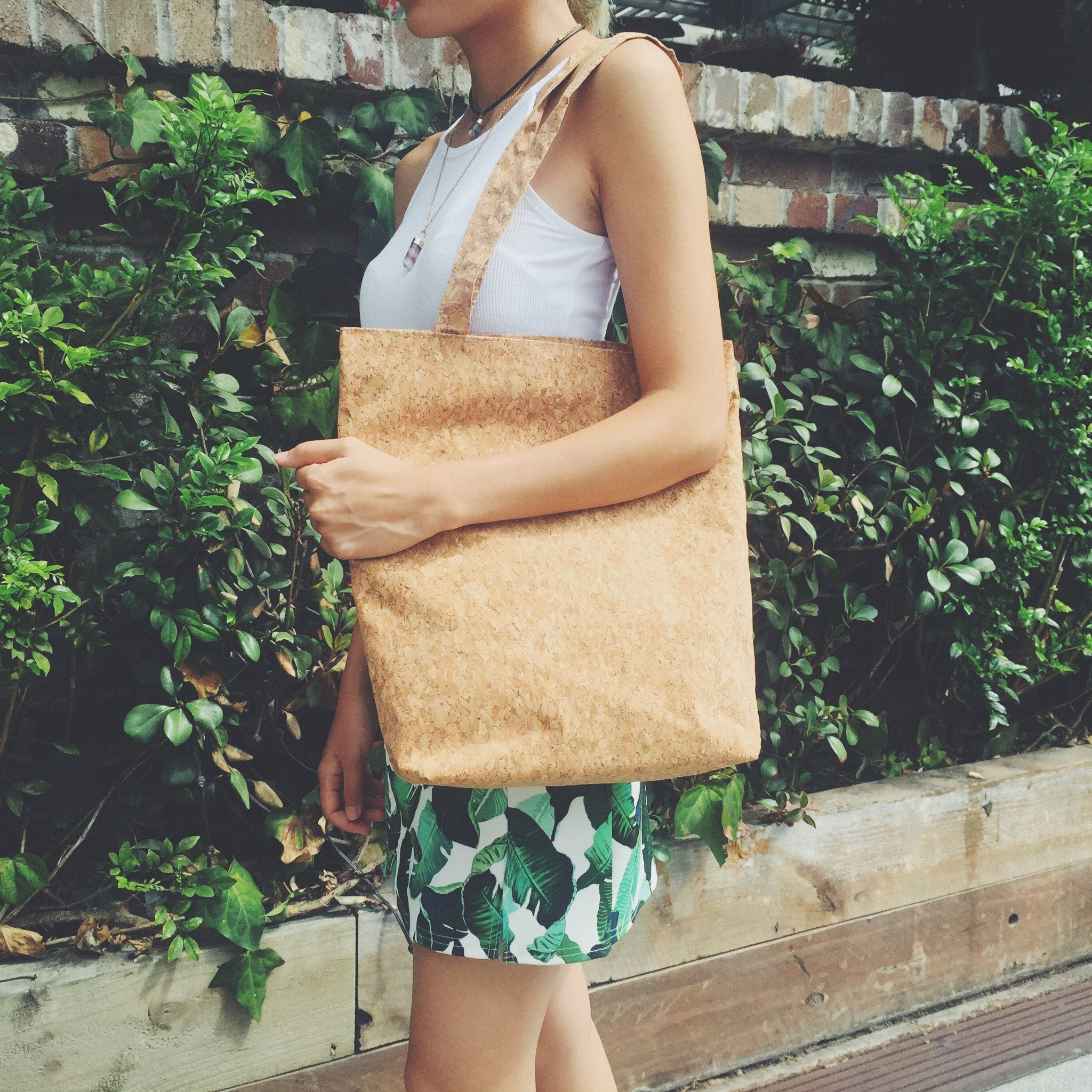 Plain Classic Donna Cork Tote Bag Natural Cruelty Free Ethical Vegan Recycled