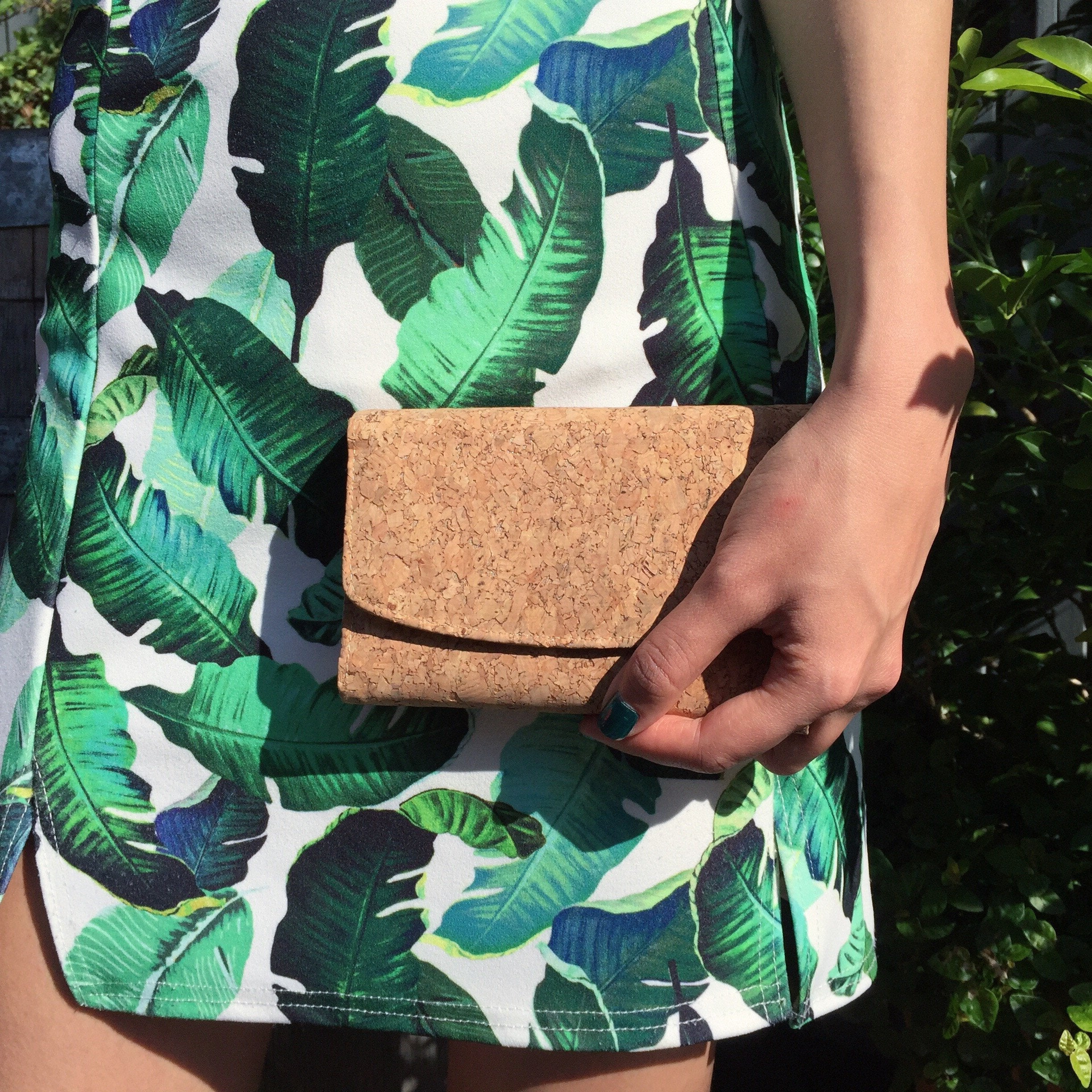 Plain Classic Emily Cork Wallet Purse Natural Cruelty Free Ethical Vegan Recycled
