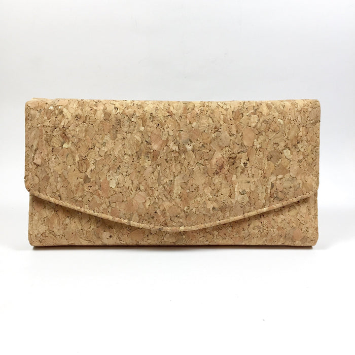 Classic Plain Natural Cork Vegan Ecofriendly Sustainable Wallet PursePlain Classic Emma Cork Wallet Purse Natural Cruelty Free Ethical Vegan Recycled