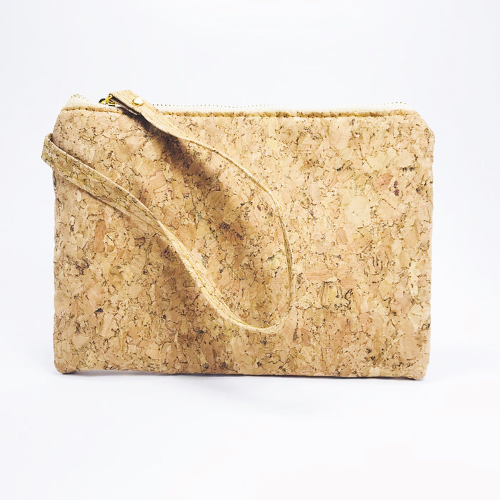 Plain Classic Annie Mini Cork Clutch Bag Natural Cruelty Free Ethical Vegan Recycled