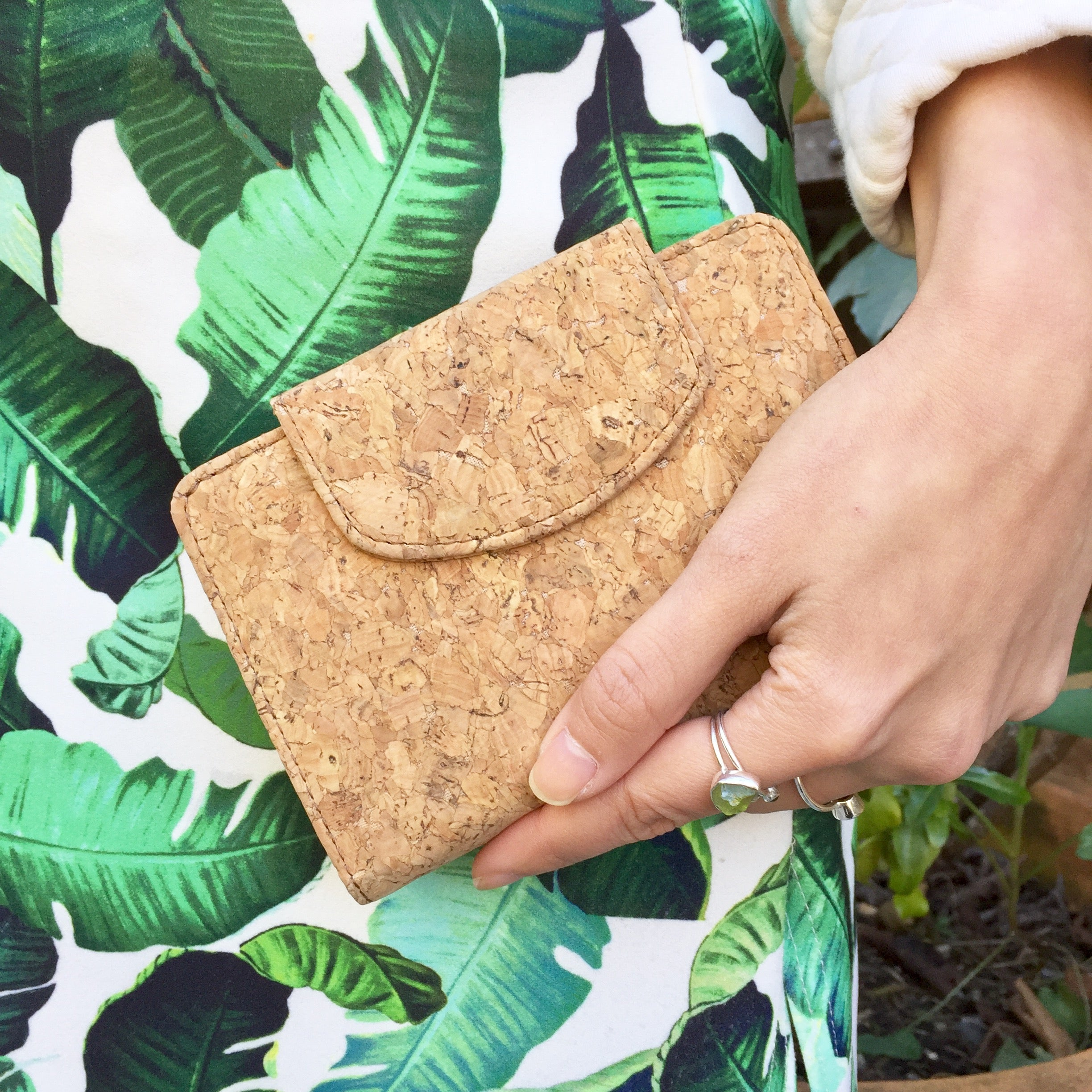 Plain Classic Fiora Cork Wallet Purse Natural Cruelty Free Ethical Vegan Recycled