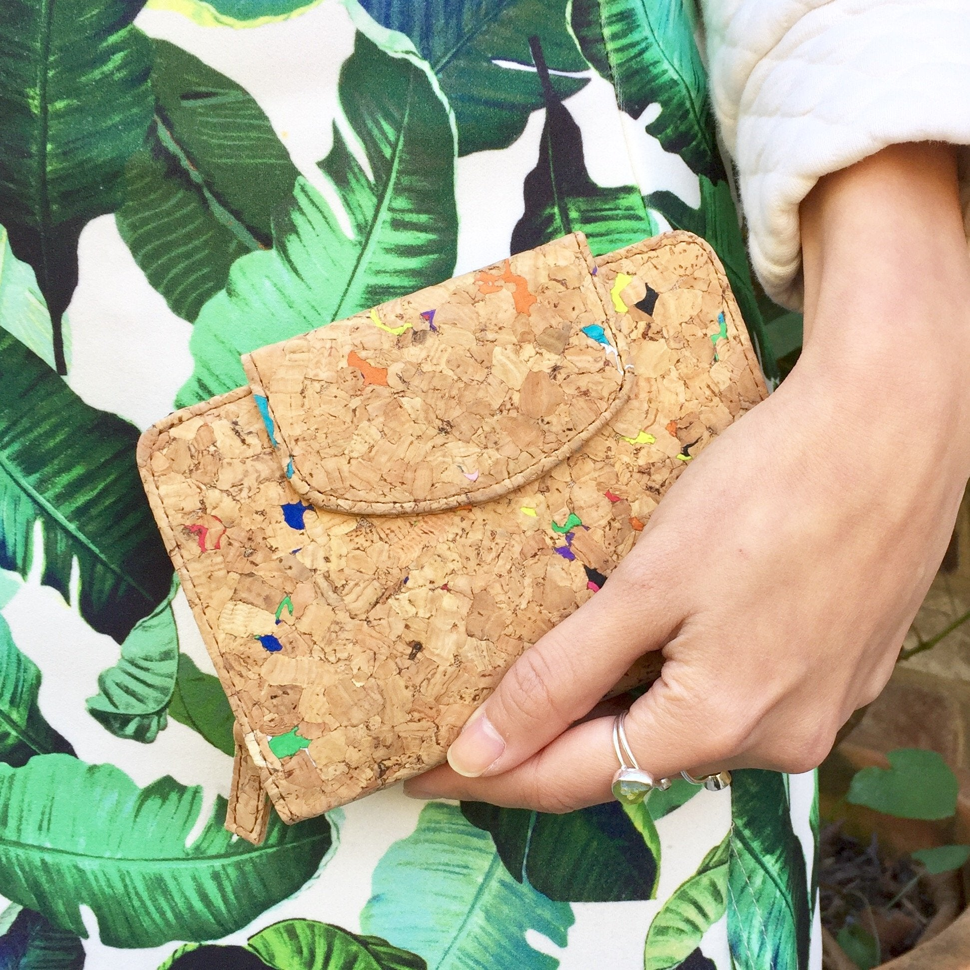 Fiora Cork Wallet in Vivid