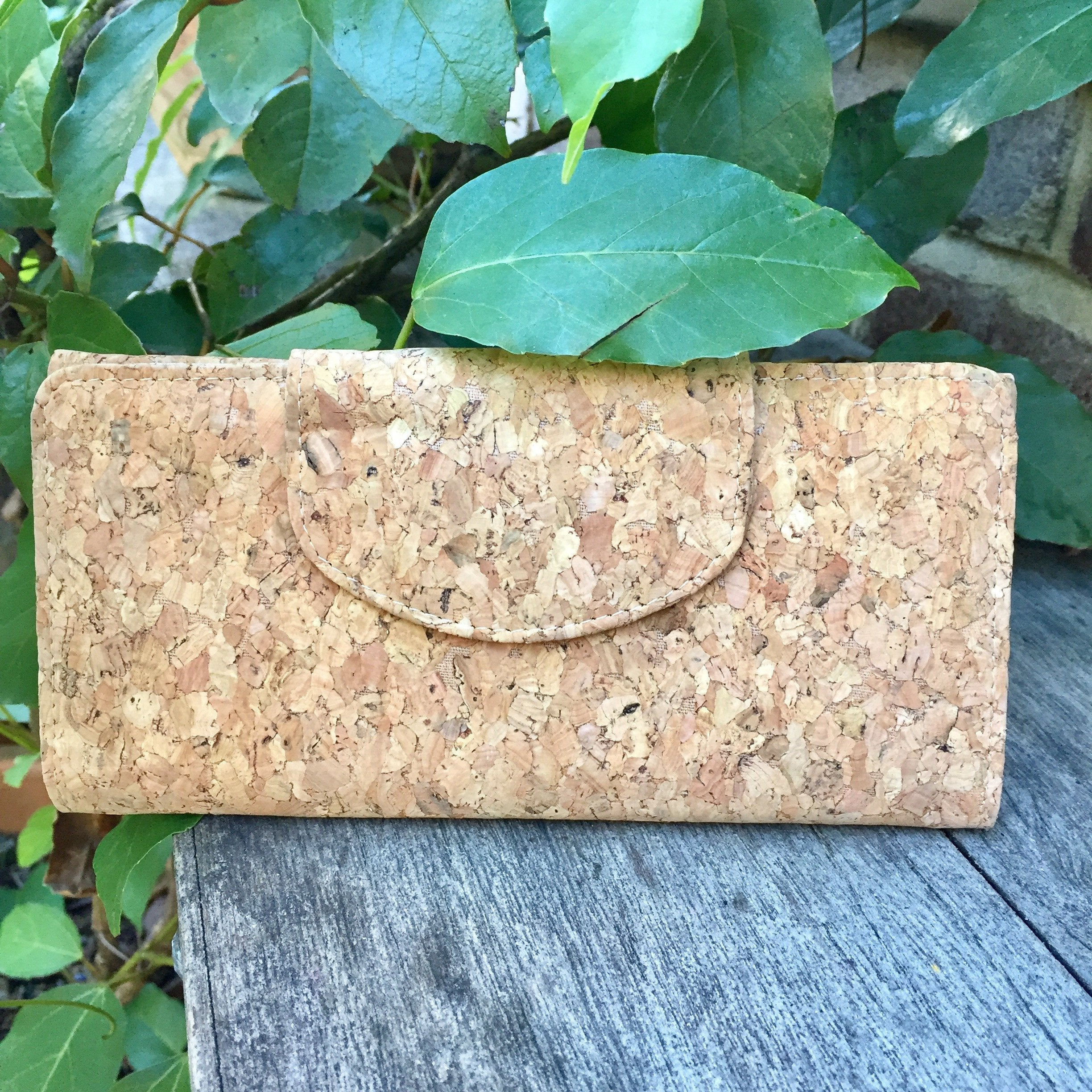 Classic Plain Natural Cork Vegan Ecofriendly Sustainable Wallet PursePlain Classic Fara Cork Wallet Purse Natural Cruelty Free Ethical Vegan Recycled