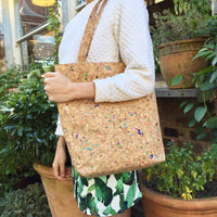 Colourful Vivid Donna Cork Tote Bag Cruelty Free Ethical Vegan Recycled