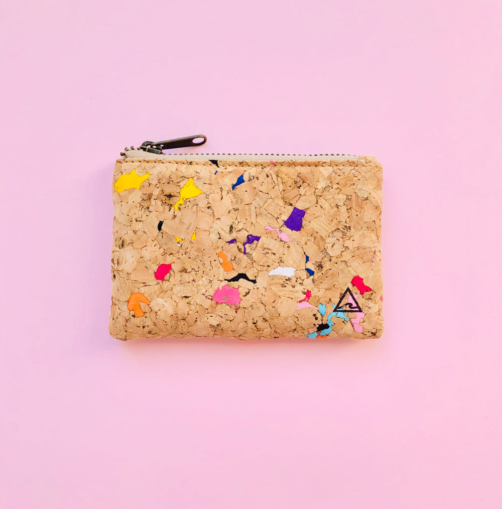 By The Sea Collection, Gigi, Colourful Vegan Cork Leather Coin Pouch