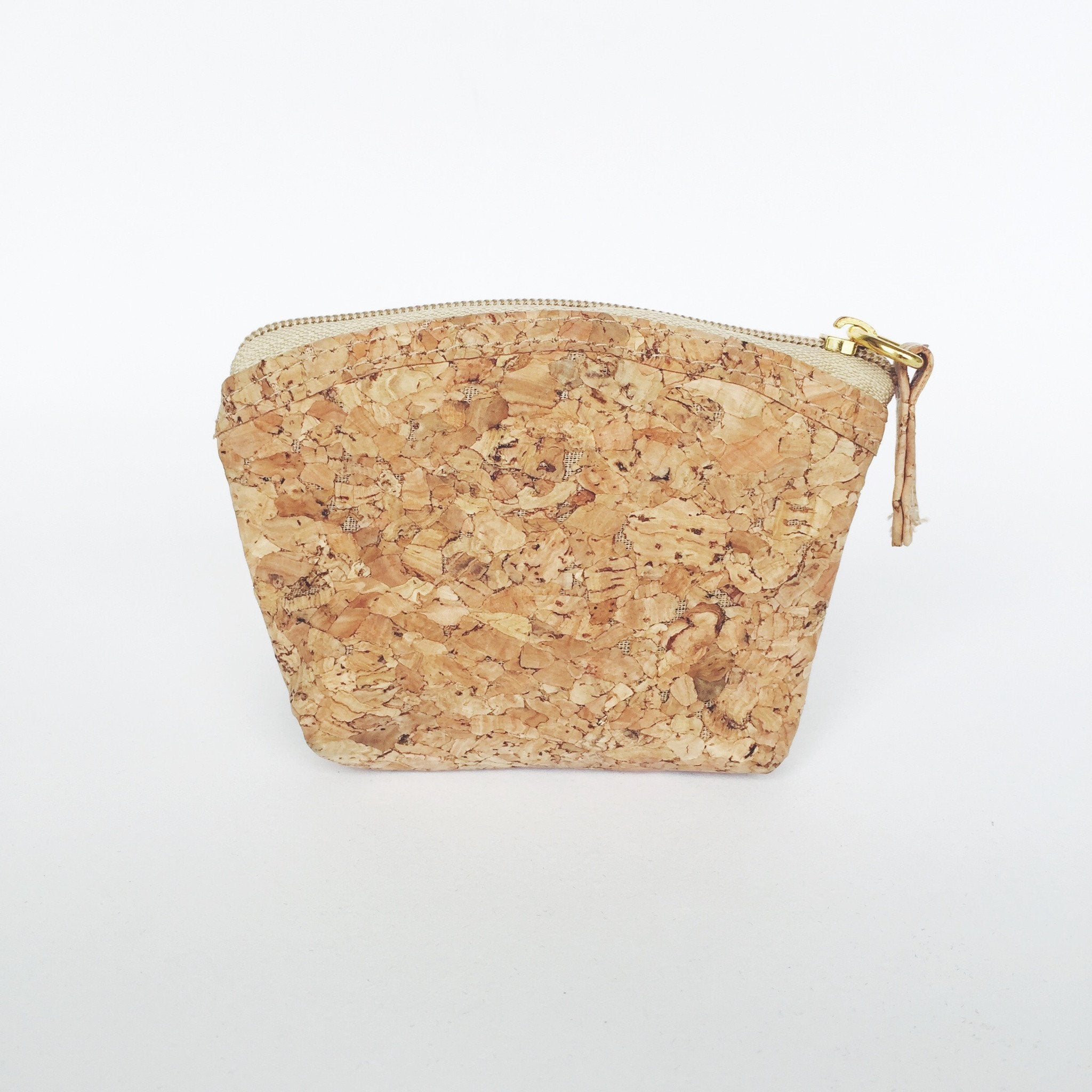 Plain Classic Gigi Cork Coin Pouch Natural Cruelty Free Ethical Vegan Recycled