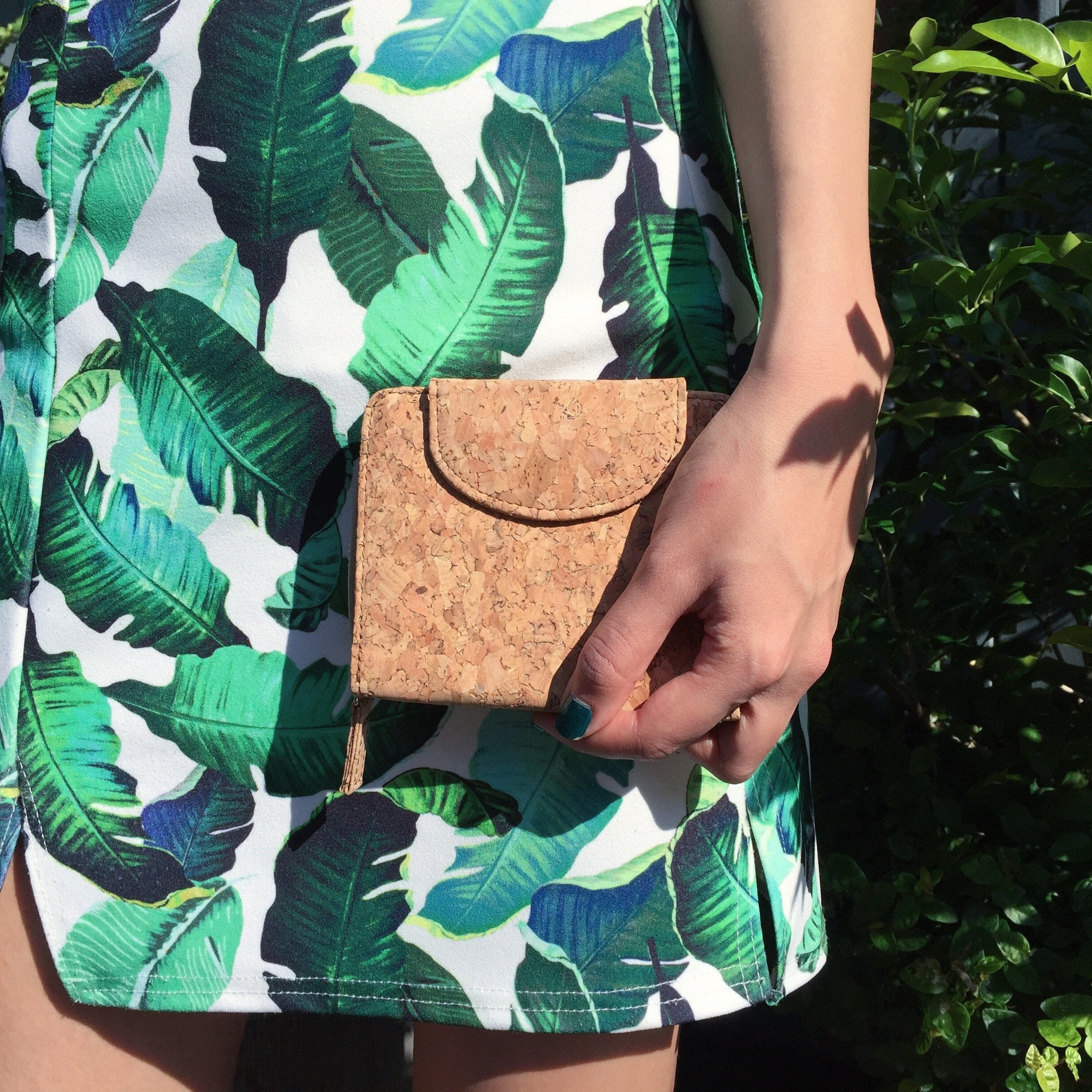 Plain Classic Fiona Cork Wallet Purse Natural Cruelty Free Ethical Vegan Recycled