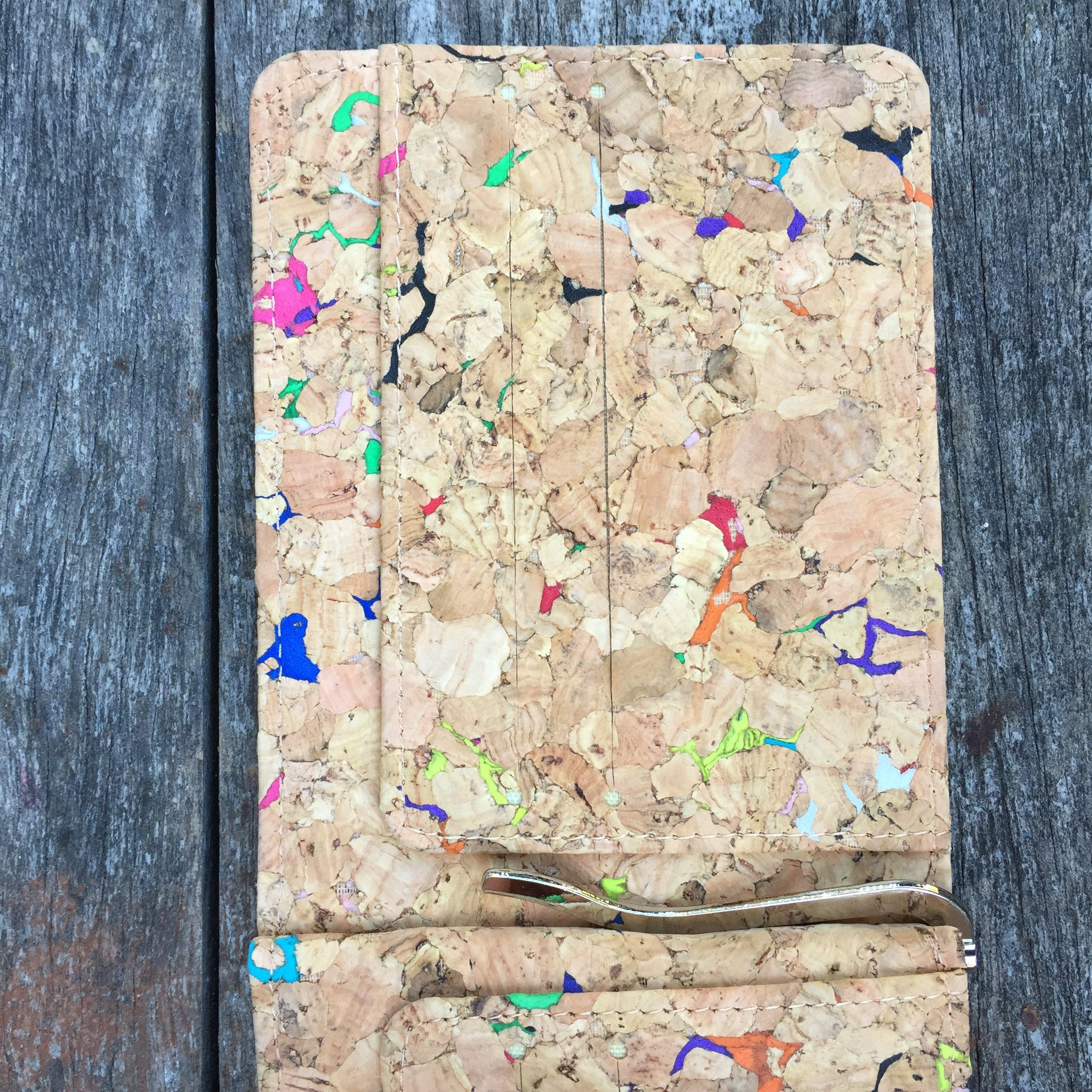 Colourful Vivid Matt Cork Wallet Cruelty Free Ethical Vegan Recycled