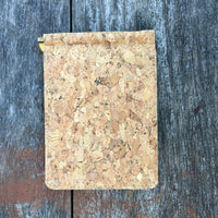 Plain Classic Matt Cork Wallet Natural Cruelty Free Ethical Vegan Recycled