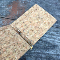 Matt Money Clip Cork Wallet in Classic