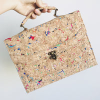 Colourful Vivid Tori Cork Crossbody Clutch Bag Cruelty Free Ethical Vegan Recycled