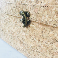 Plain Classic Tori Cork Crossbody Handbag Natural Cruelty Free Ethical Vegan Recycled