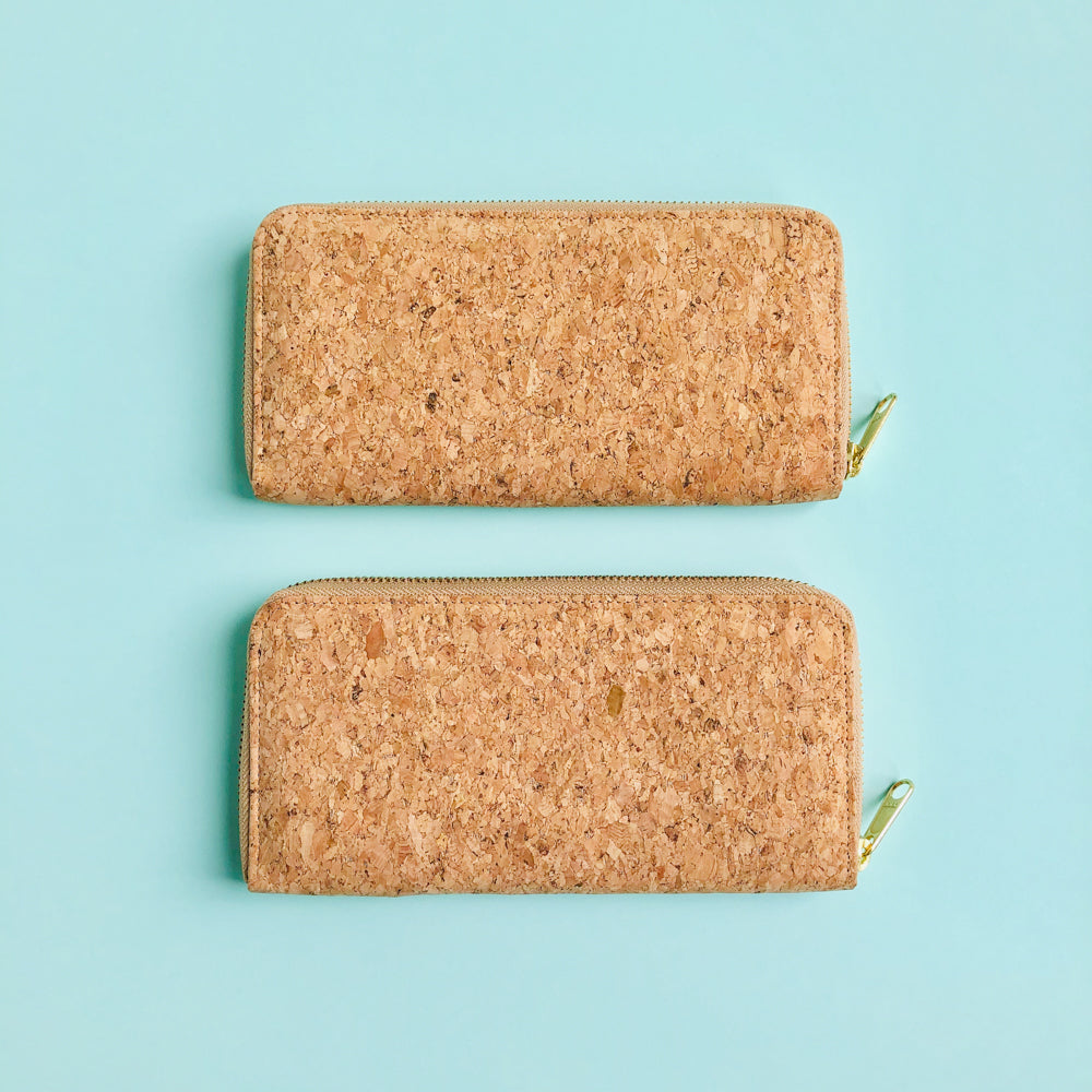 Two By The Sea Collection, Iggy, women's vegan cork leather wallets