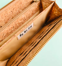 Interior of By The Sea Collection, Iggy, women's vegan cork leather wallet