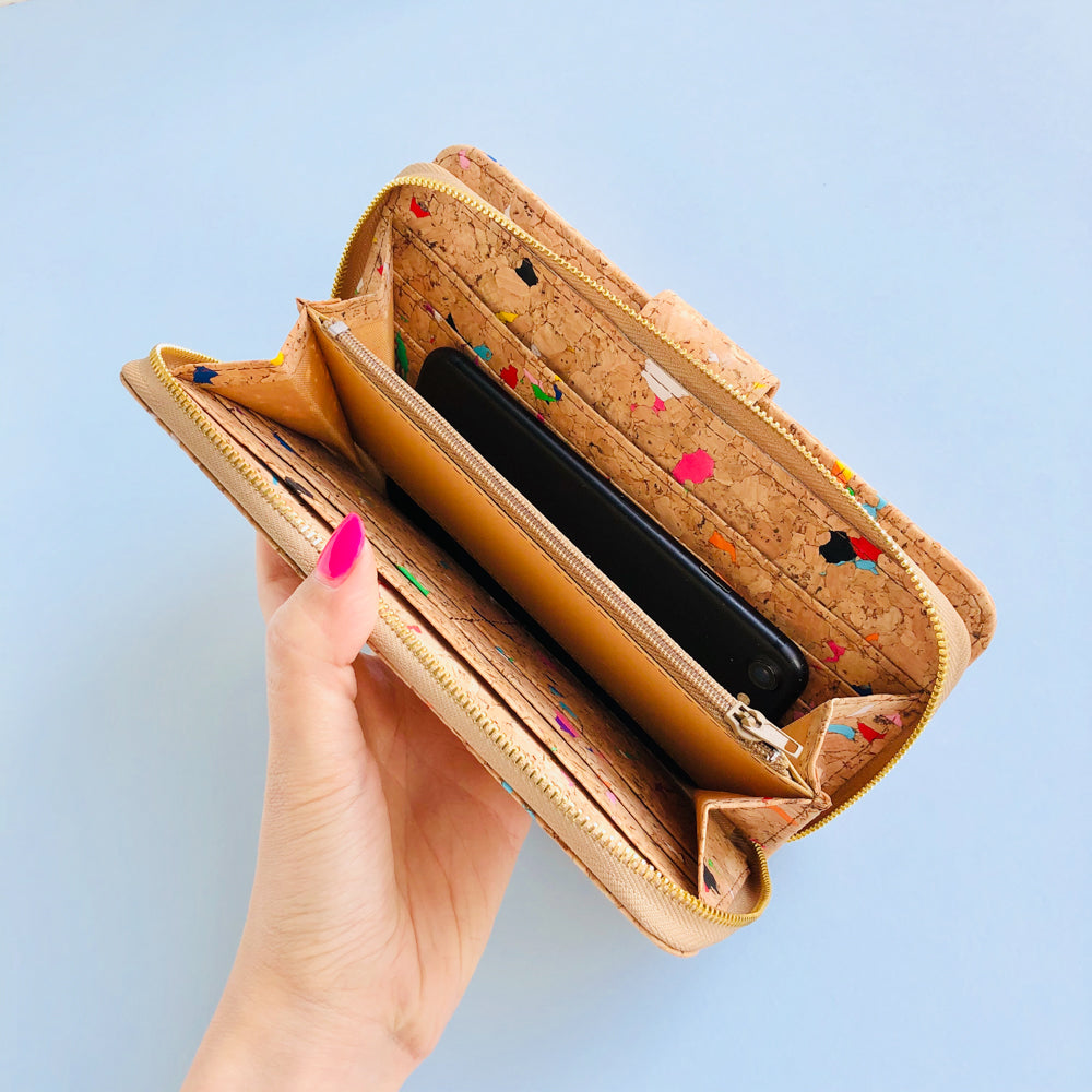 Izzy Long Cork Wallet in Vivid
