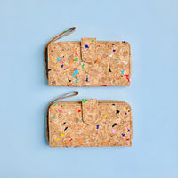 Two By The Sea Collection, Izzy, colourful vegan cork leather women's wallets