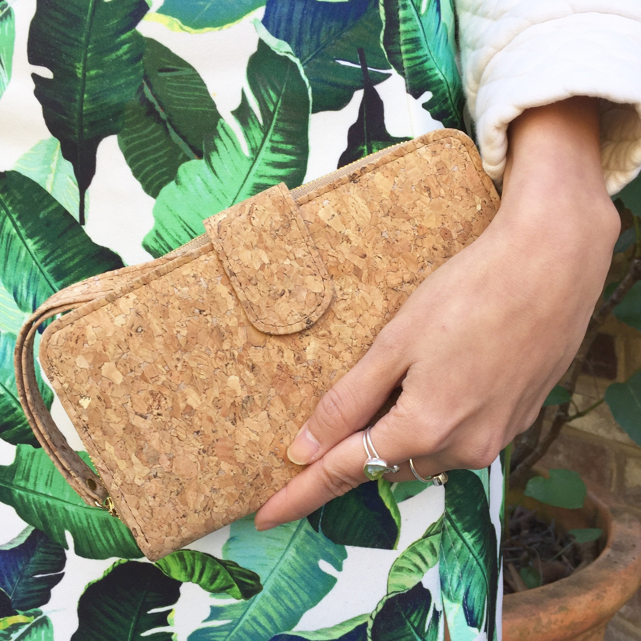Plain Classic Izzy Cork Wallet Purse Natural Cruelty Free Ethical Vegan Recycled