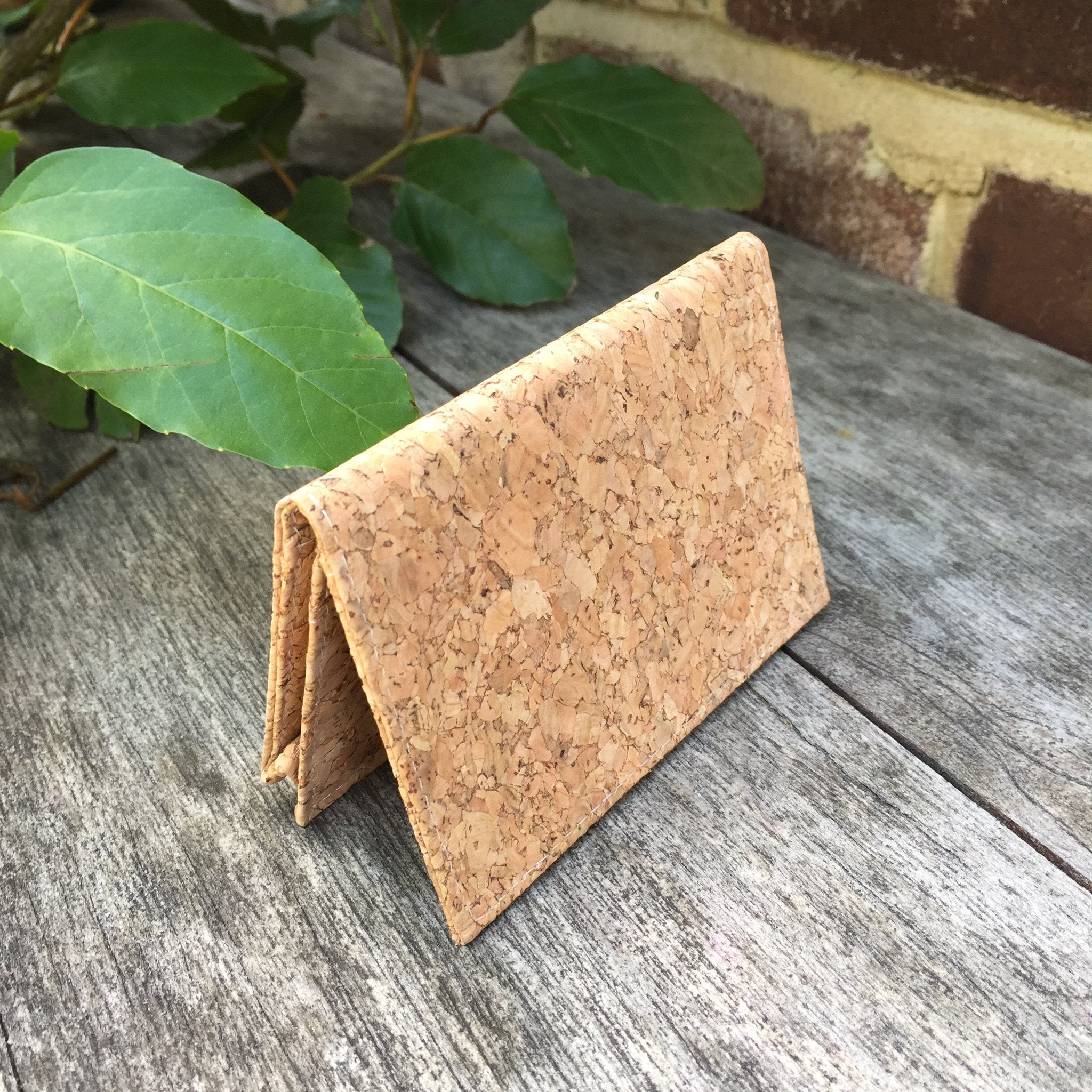 Plain Classic Kevin Cork Wallet Card Holder Natural Cruelty Free Ethical Vegan Recycled