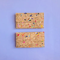By The Sea Collection, Lara, colourful women's vegan cork leather wallet