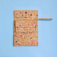 Wristlet inside of By The Sea Collection, Lola, colourful women's vegan cork leather wallet