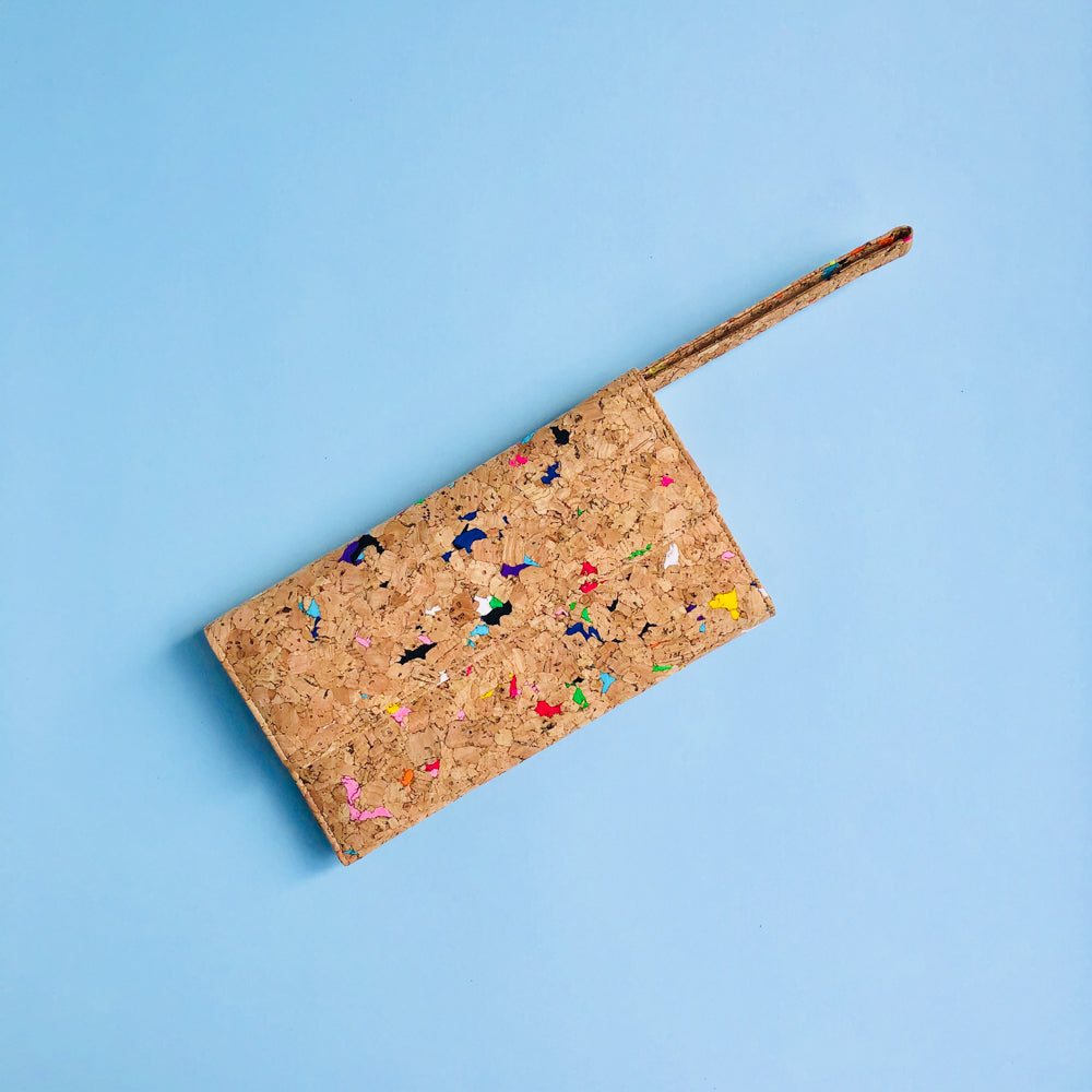 Wristlet of By The Sea Collection, Lola, colourful women's vegan cork leather wallet