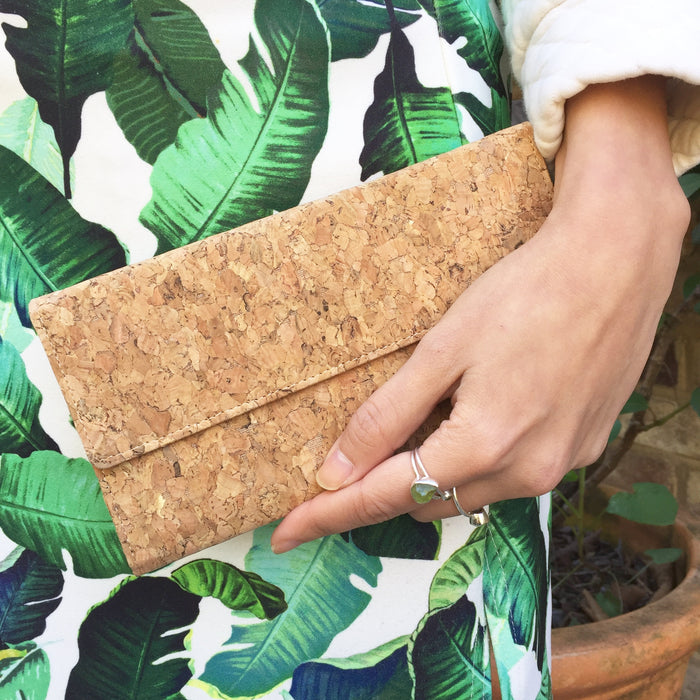 Lara Long Cork Wallet in Classic
