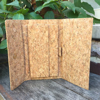Plain Classic Lara Cork Wallet Purse Natural Cruelty Free Ethical Vegan Recycled