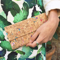 Colourful Vivid Lara Cork Wallet Purse Cruelty Free Ethical Vegan Recycled