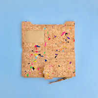 The inside of By The Sea Collection, Lizzie, colourful women's vegan cork leather wallet