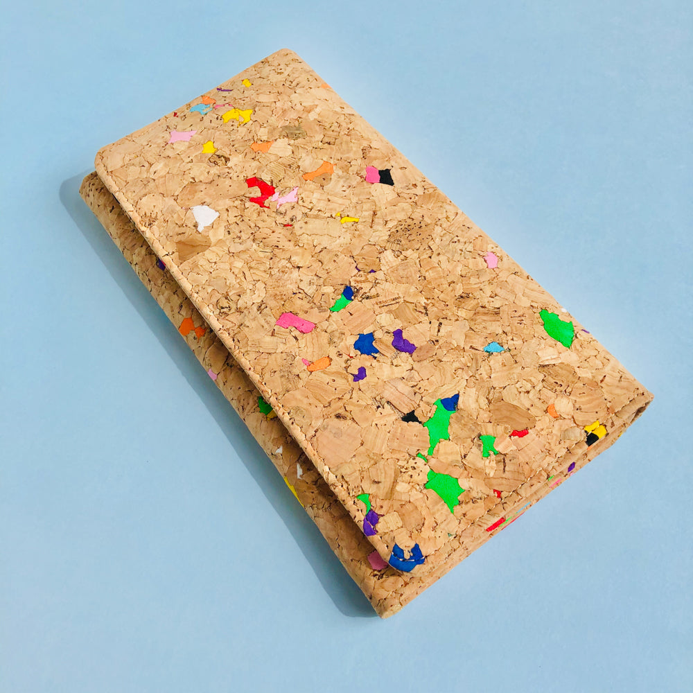 By The Sea Collection, Lola, colourful women's vegan cork leather wallet