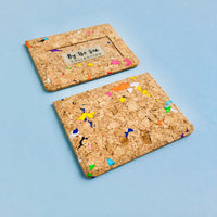 Two By The Sea Collection, Max, colourful vegan cork leather card holders