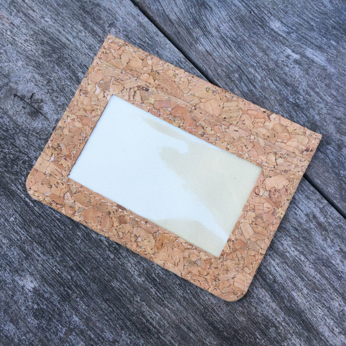 Plain Classic Max Cork Wallet Card Holder Natural Cruelty Free Ethical Vegan Recycled