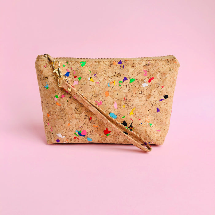 By The Sea Collection, Miley, colourful vegan cork leather make up bag