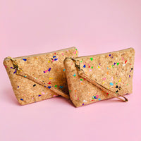 Two By The Sea Collection, Miley, colourful vegan cork leather make up bags