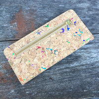 Colourful Vivid Nikki Cork Wallet Purse Cruelty Free Ethical Vegan Recycled