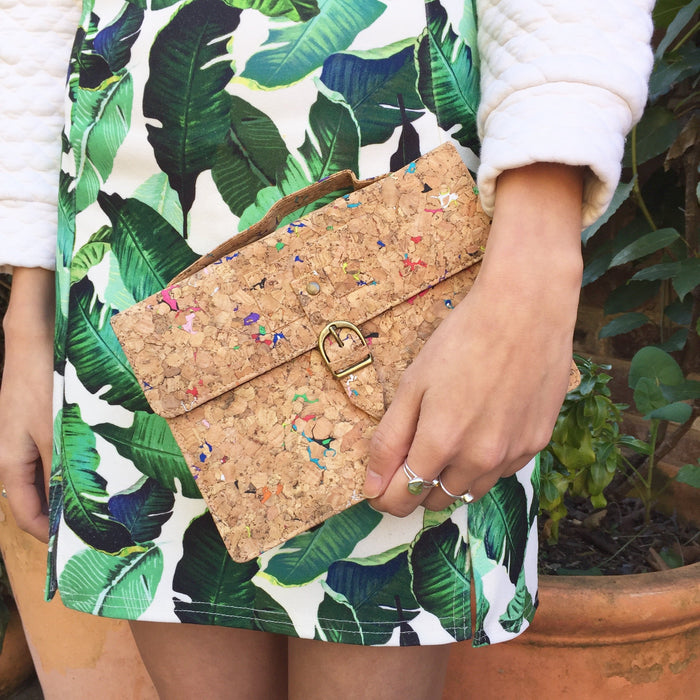 Kiki Cork Cross Body Bag in Vivid