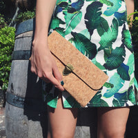 Plain Classic Susie Cork Crossbody Clutch Bag Wallet Purse Natural Cruelty Free Ethical Vegan Recycled