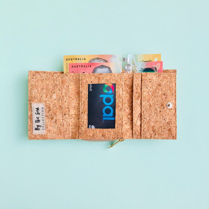 Nina Small Cork Wallet in Classic